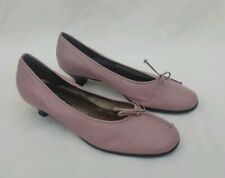 "GABOR LILAC PURPLE  LEATHER SLIP ON SHOES 1.5"" KITTEN HEEL UK4.5 EU37.5 US6.5"