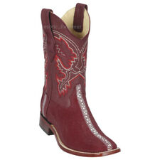 "Men's Los Altos Genuine Rowstone Stingray Western Boots Square Toe 11"" Shaft"