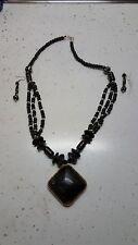 African Jewelry Necklace Set/Wearable Art Black1E609Blk744 Kwanzaa