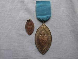 Hallowing of Leicester Diocese -- 1927 -- Two medals -- Religious Interest