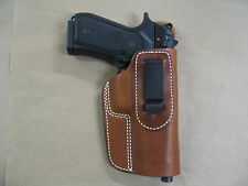 Beretta 92, 92FS, 96, M9 IWB Leather In Waistband Concealed Carry Holster TAN