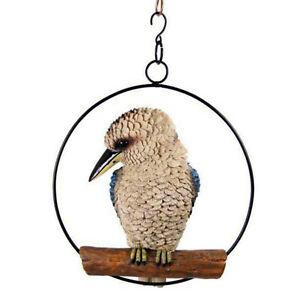 Kookaburra Hanging Garden Australia Native Bird Swing Ring Ornament Realistic
