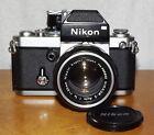 Vintage Nikon F2 Photomic 35mm Film Camera with Fast Nikkor-S 50mm 1:1.4 Lens