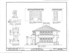 Frank Lloyd Wright Prairie House, architectural plans