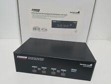 Startech.com 4 Port StarView Dual Display DVI KVM Switch With Audio SV431DD2DUA