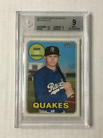 GAVIN LUX 2018 Topps Heritage MILB SP RC #44! BGS MINT 9! w/ 2 Sub 9.5's! INVEST