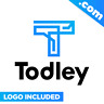 Todley.com - Cool brandable domain name for sale Godaddy PREMIUM LOGO One Word