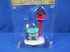 LEMAX VILLAGE CHRISTMAS DEER FOUNTAIN BIRD BATH HOUSE ACCESSORY #74285 *NEW*