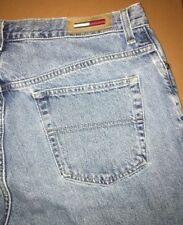 Tommy Hilfiger Size 14 Womens Blue Jeans Straight Leg Faded ? Vtg 100% Cotton