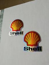 Aufkleber Sticker Glitzer 2er Set Shell Biker Motorrad Racing Tuning Motocross