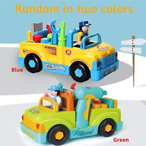 Multifunctional Construction Toy Tool Trucks for Kids Toy with Electric Drill