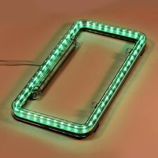 Universal 12V Green 54 LEDs Auto Car Multi-Models License Plate Frame Light