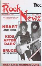 ORIGINAL Vintage 1985 Pittsburgh Rock Newz Magazine Heart Bruce Springsteen