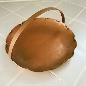 """Drumgold Copper ~ Vintage 7 3/8"""" Handled Nut/Candy Dish Hall ~ Marked"""