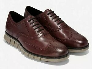 Cole Haan ZeroGrand Wingtip Oxford C30279 Burnished Wine Leather Men Size US 14