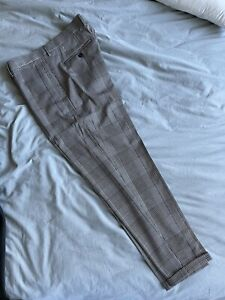 Zara Checked Mens Cropped Pants Size 34