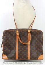 Authentic LOUIS VUITTON MONOGRAM PORTE Documents Voyage Briefcase Messenger Bag