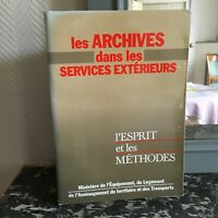 Manuel Las Archivos En Las Servicio Exterior Mente Y Méthodes 1986