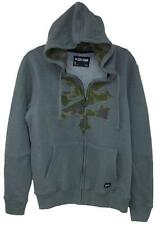 Gray Zoo York Zippered Sweatshirt/Hoodie with Camouflage ZY Logo Size S MSRP $50