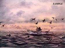 """ SCOTER GUNNING ""   Duck Hunting Print by William Tyner - Waterfowl Decoy"