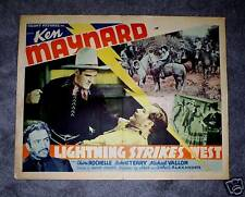 LIGHTNING STRIKES WEST '40 ORIG. KEN MAYNARD HALF-SHEET