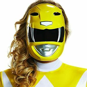 Yellow Ranger Mask Mighty Morphin Power Rangers Halloween Costume Accessory