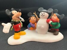"""Dept. 56, """"Mickey Builds A Snowman""""- #56849, Issued 2003 Retired 2009 NIB"""