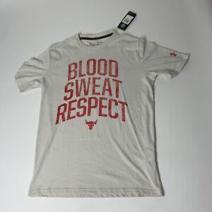 Under Armour Project Rock Blood Sweat Respect S/S T-Shirt Mens Sz Medium NWT