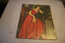 Vintage Completed Puzzle Girl In Red Dress Sneaking Up Stairs Art Piece