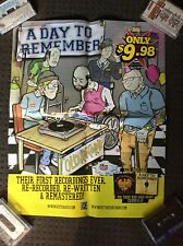 A DAY TO REMEMBER POSTER Old Record Promotional Poster RARE ADTR