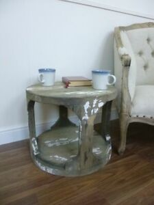 Industrial Style Rustic Side Table - Lamp Table