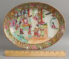 Antique Mid 19thC Chinese Export Rose Medallion Orange Peel Porcelain Platter