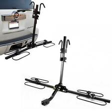Upright Heavy Duty 2 Bike Bicycle Hitch Mount Carrier Platform Rack Truck SUV