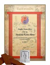 Martial Arts Certificates - TaeKwonDo & Karate Rank Certificates - Pack of 5