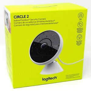 Logitech Circle 2 Indoor Outdoor Wired Home Wi Fi Security Camera Alexa Google