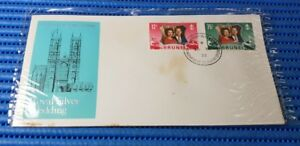 1972 Brunei First Day Cover 25th Wedding Anniversary - Royal Silver Wedding