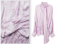 BNWT Gorgeous Lilac tie neck Blouse /top || Country Road || size 12 -14 RRP $179