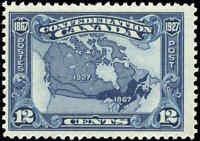 1927 Mint Canada F+ Scott #145 12c Confederation Anniversary Stamp Hinged