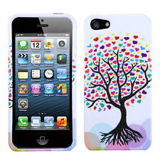 For Apple iPhone 5 5S SE HARD Protector Case Snap On Phone Cover Love Tree