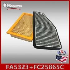 FA5323 FC25685C(CARBON) ENGINE & CABIN AIR FILTER ~ 2009-2012 FORD ESCAPE 2.5L