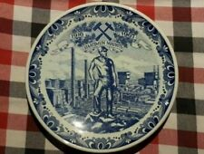 """9"""" Vintage Dutch Plate Dish  Wall Charger Delft Blue - Staatsmijn Maurits -"""