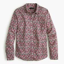J CREW SLIM PERFECT SHIRT IN LIBERTY FLORAL IN PINK FUSCHIA MULTI VARIOUS SIZES