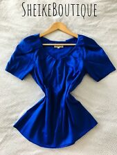 NEW! Blue Veronika Maine Womens Top Blouse Shirt Size 8