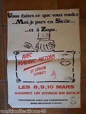 AFFICHE - 140617- LANGON (Gironde) - PUB pour le gain d'un voyage en Sicile