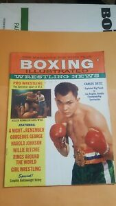 Boxing Illustrated + Wrestling Magazine May 1960. Carlos Ortiz, Gorgeous George.