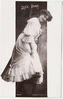 ZENA DARE - Actress - Climbing Ladder - 1906 used Rotary real photo postcard