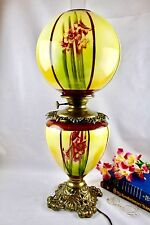 Rare Antique Pittsburg Success GWTW Banquet Victorian Oil Lamp