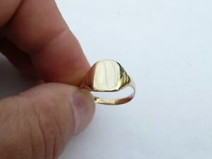 SUPER MENS SOLID 9CT GOLD VINTAGE SIGNET PINKY RING SIZE R 18.76MM 2,8 GRAMS