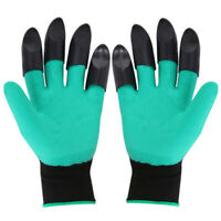 1Pair Waterproof Gardening Gloves with Claws for Digging and Planting