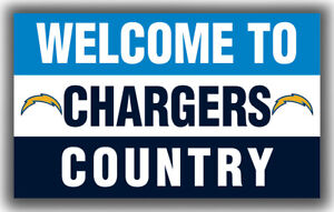 Los Angeles Chargers Welcome to Chargers Country Flag 90x150cm3x5ft Best Banner